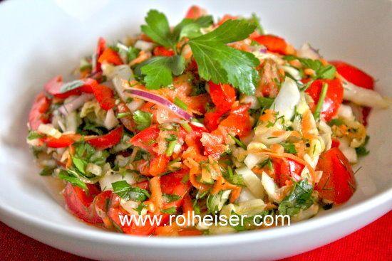 салат витаминный рецепт с фото из капусты