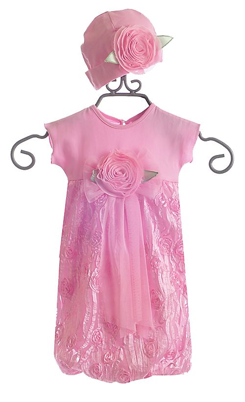 CachCach Pink Baby Gown with Hat $65.00 | Beautiful Baby Girl ...