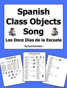 Spanish class objects and ordinal numbers song the twelve days of spanish class objects and ordinal numbers song the twelve days of school ibookread Download