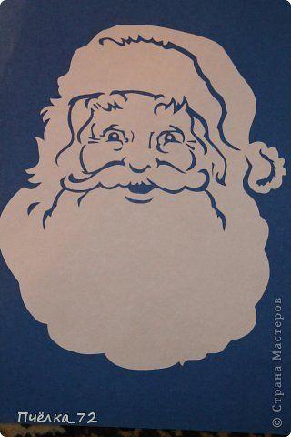 Vytynanka Dedushka Moroz Christmas Paper Crafts Christmas Cutouts Christmas Paper