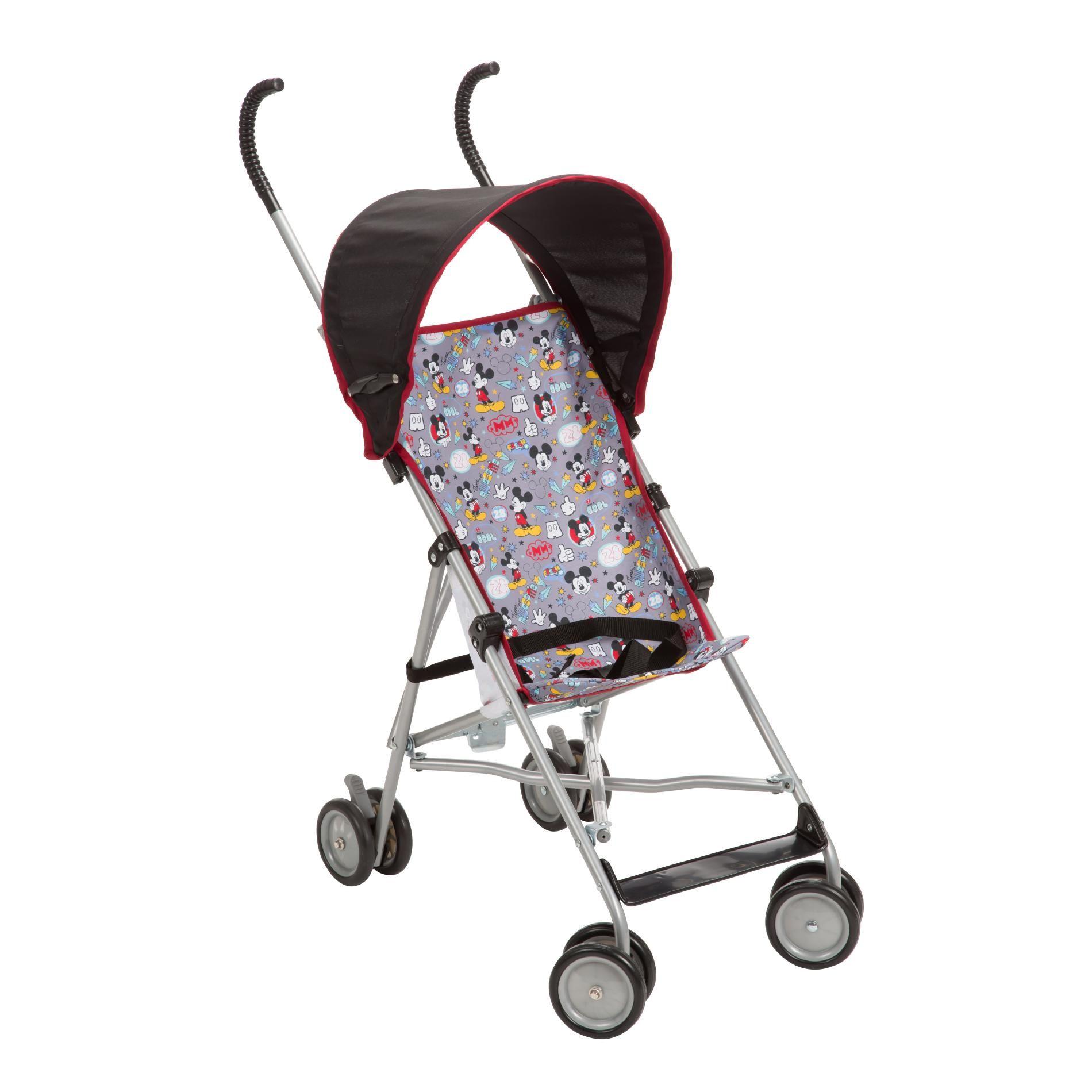 Disney infant boys mickey mouse umbrella stroller black
