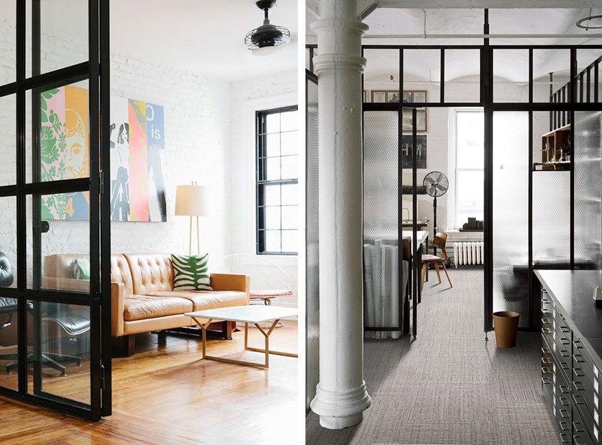 Cerramientos interiores de cristal para dividir espacios - Puertas de cristal para interiores ...