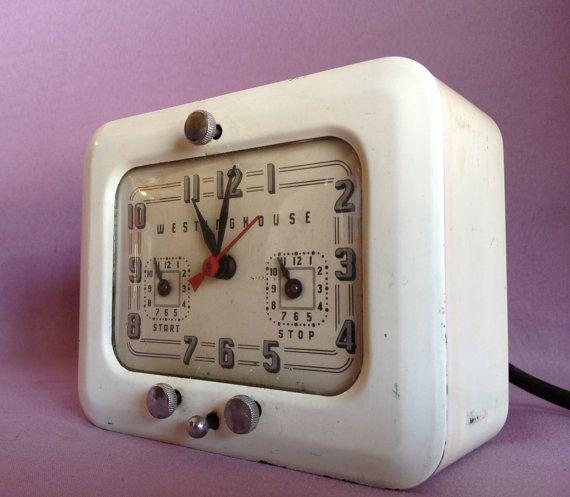 White Westinghouse Stove Timer Alarm Clock By Newvintagebytosh