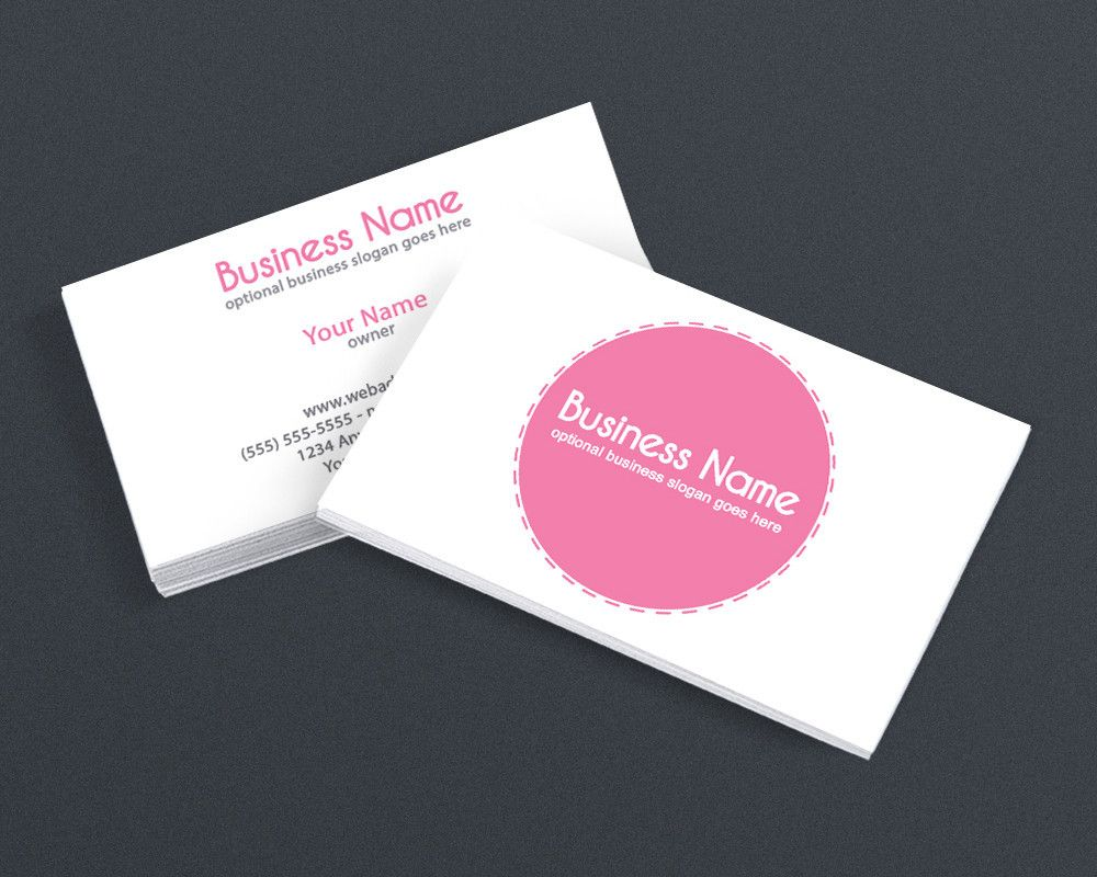 Modern Bold Pink 2 Sided Business Card Design Business Cards Creative Templates Business Card Design Printable Business Cards