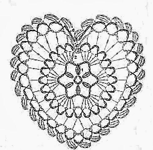 Cuore Uncinetto Schema Italiano Cerca Con Google Crochet Hearts