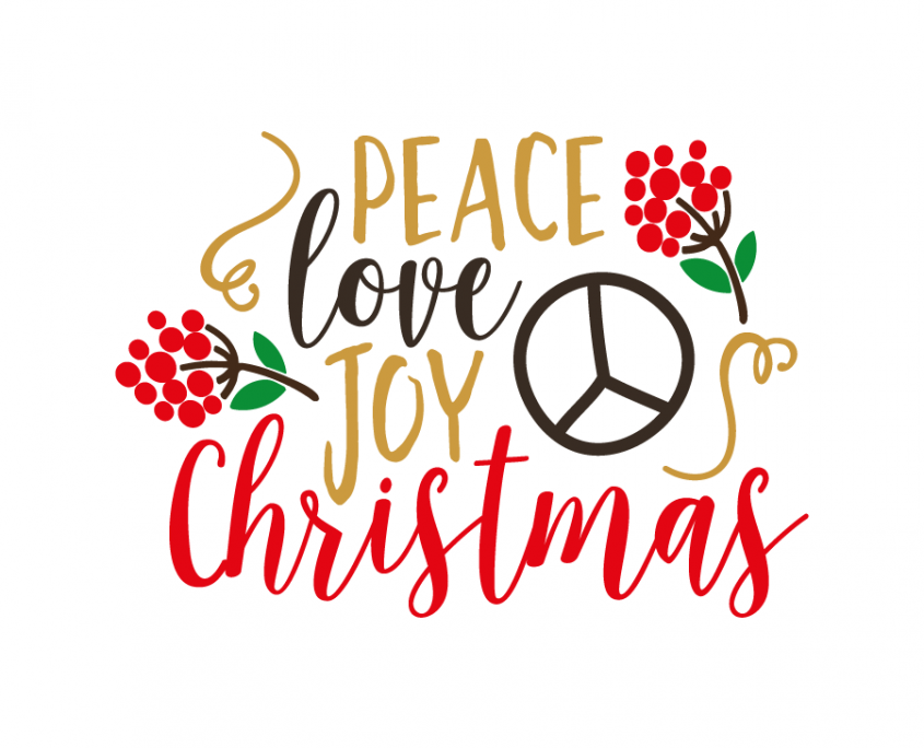 Get Peace Love And Joy Wreath Svg Design