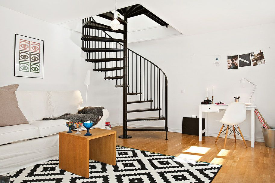 Best Charming Modern Duplex Apartment In Sweden Loft Stairs 400 x 300