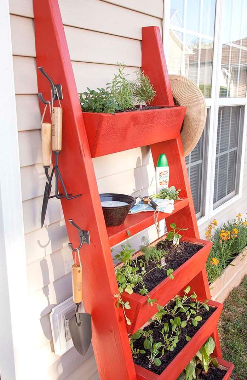DIY Planter Box Ladder The Home Depot Blog in 2020 Diy