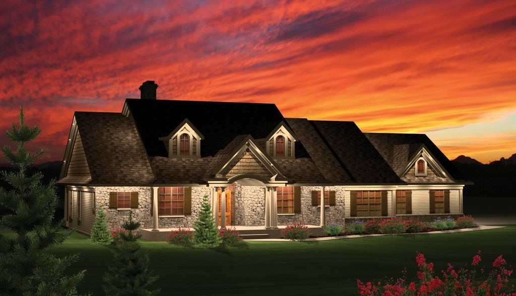 1764 Sq Ft Main Floor Plan For 10059 One Story House Plans House Plans With Bonus Room Over Ranch Home Floor Plans House Plans One Story House Plans Farmhouse