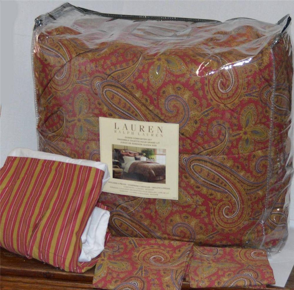 Ralph Lauren Edmonton Paisley Queen Comforter Set New 1st