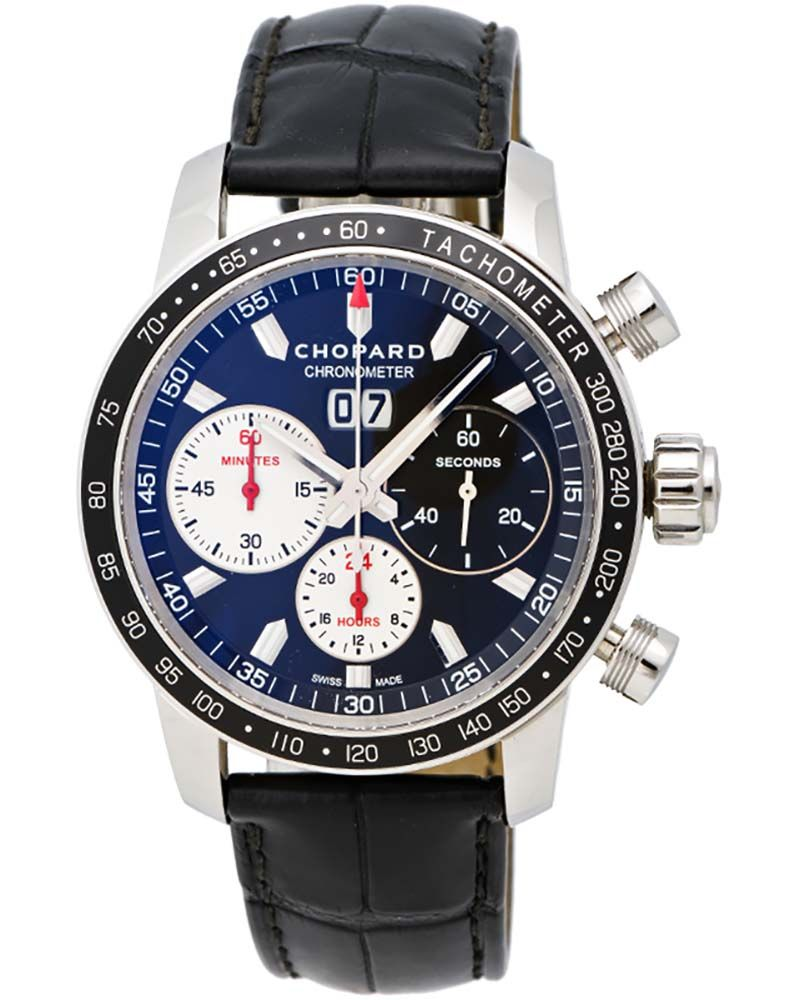 ShopWorn™ Chopard Mille Miglia Jacky Ickx Edition V Chronograph, 42mm  Stainless Steel Case, Hours, Minutes, Sub Seconds, Big Date at 12 O clock  Position, ... e37b7eb3138f