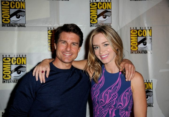 Tom Cruise and Emily Blunt at Comic-Con for Edge of Tomorrow panel