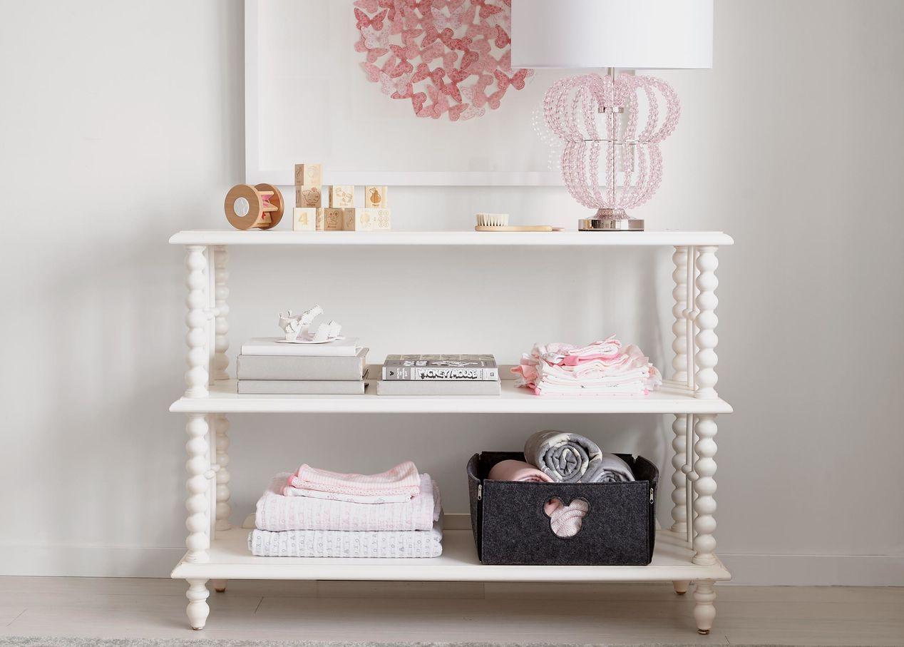 Marceline Low Bookcase Evangeline Eclectic Table Lamps