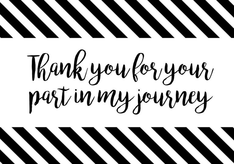 Thank You Cards Or Poster Thank You For Your Part In My Journey Paper Trail Design Graduation Thank You Cards Free Graduation Printables Graduation Stickers