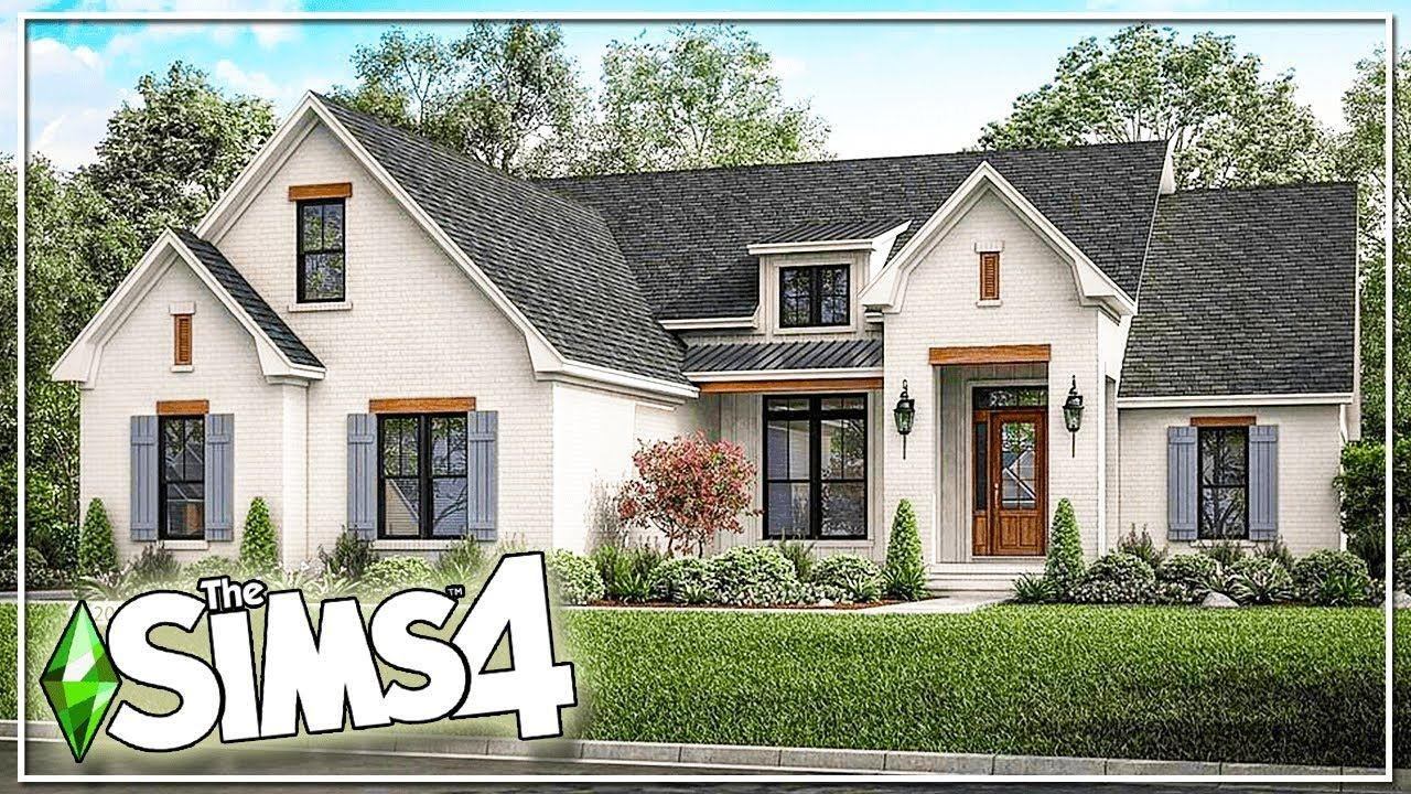 Real To Sims Farmhouse Family Home The Sims 4 Speed Build No Cc Sims 4 House Design Sims House Sims 4 House Building