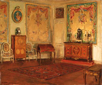 Walter Gay, French Interior. Oil on canvas.