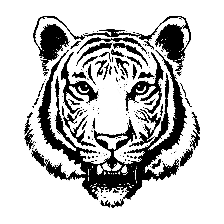 Tiger 11 Jaguar Leopard Big Cat Predator Logo Svg Eps Png Etsy Tiger Face Drawing Tiger Face Tiger Head Tattoo