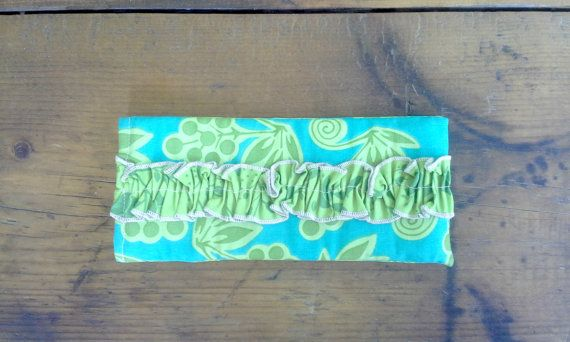 Ruffled Sunglass/Glass Pouch Turquoise/Green by Proverbs31Karen, $13.00