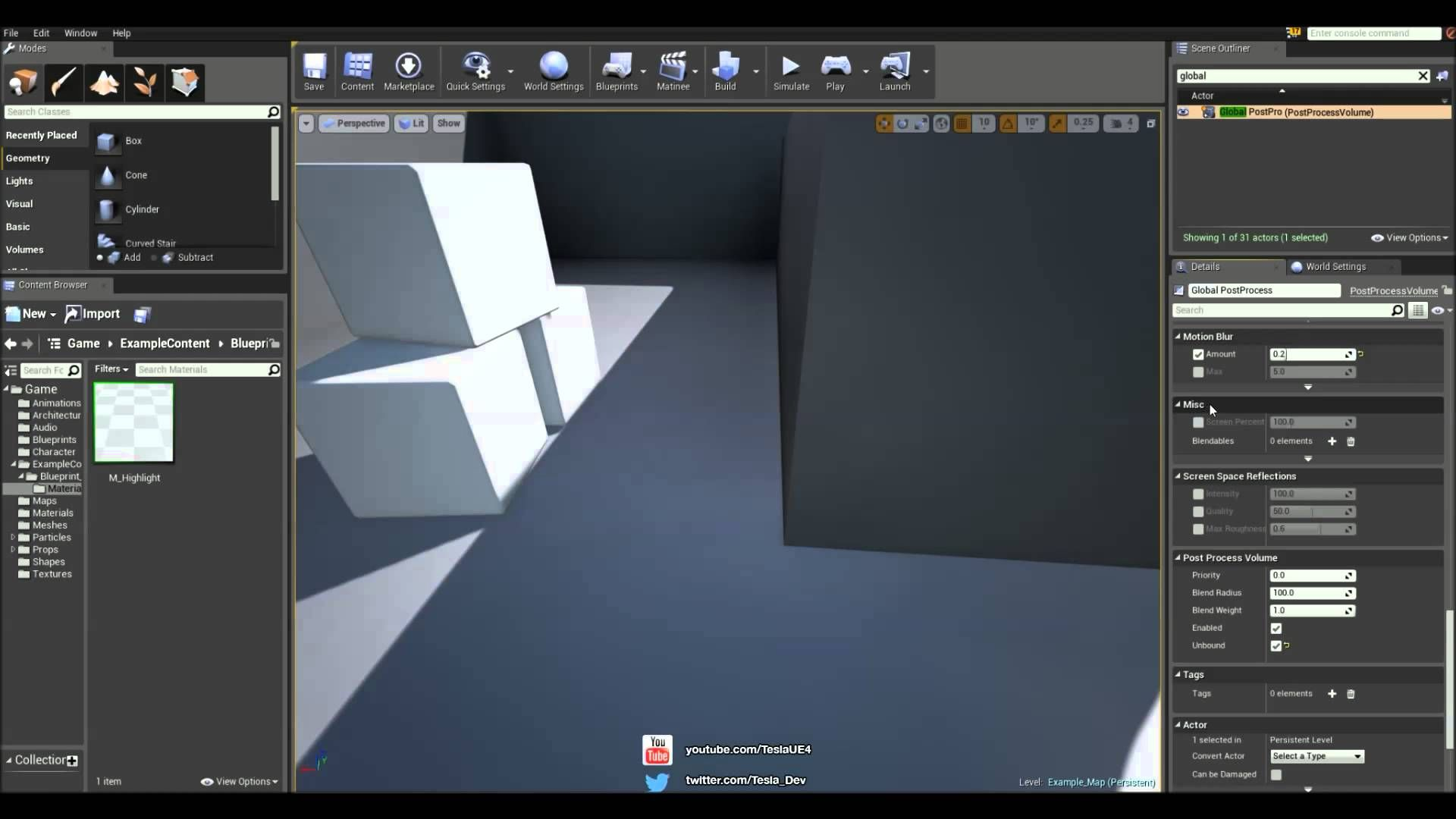 Unreal Engine 4 Tutorial - Basic Object Outline (Interaction