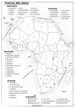Coloring Book Page* Africa Political Map | Coloring books ...