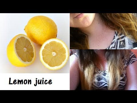 Highlighting Hair Naturally Lemon Juice