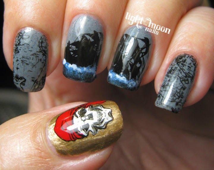 Light Of The Moon Nails Pirates Of The Caribbean Nail Art Nailed