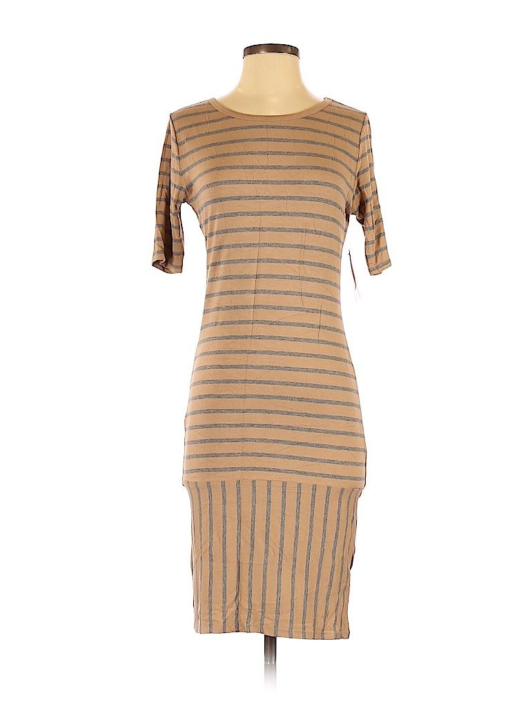 Lularoe Cocktail Dress Bodycon Tan Stripes Dresses Used Size Small In 2021 Womens Cocktail Dresses Striped Dress Bodycon Dress [ 1024 x 768 Pixel ]