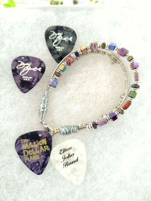 Elton John S Captain Fantastic Guitar String Bracelet Authentic