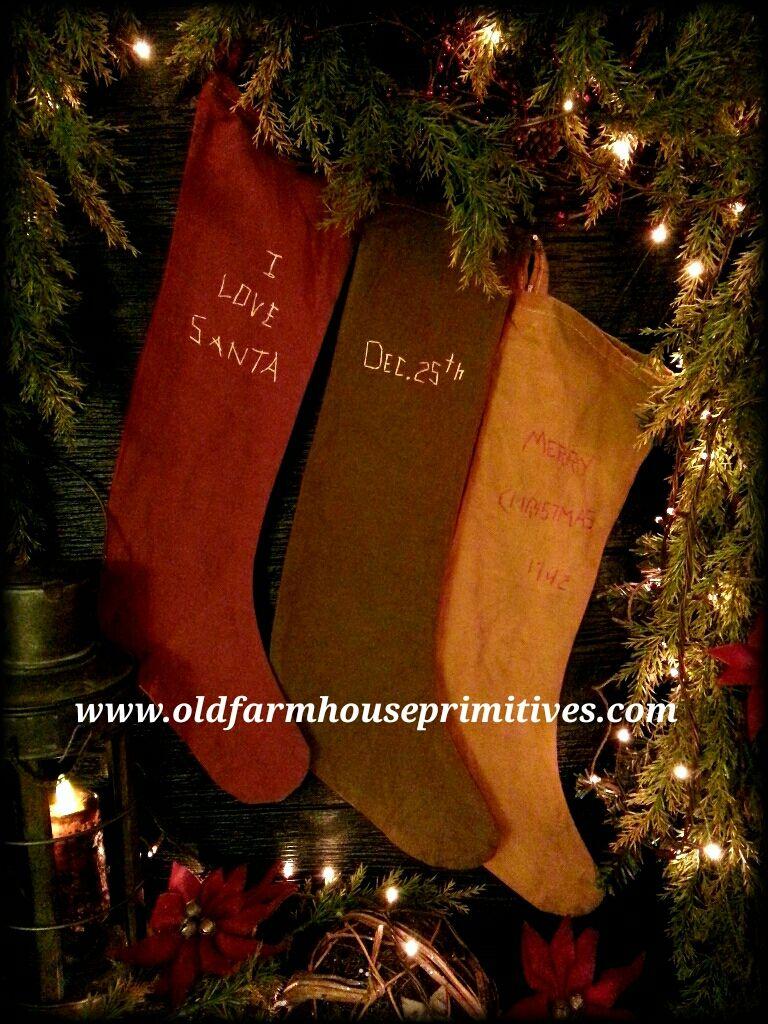 acs4 arnetts primitive christmas stockings made in usa - Primitive Christmas Stockings