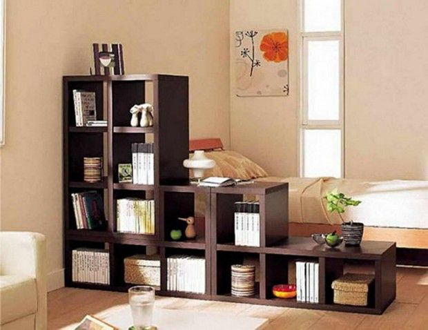 31 creative ideas using shelving as a room divider snappy pixels - Room Dividers Ideas