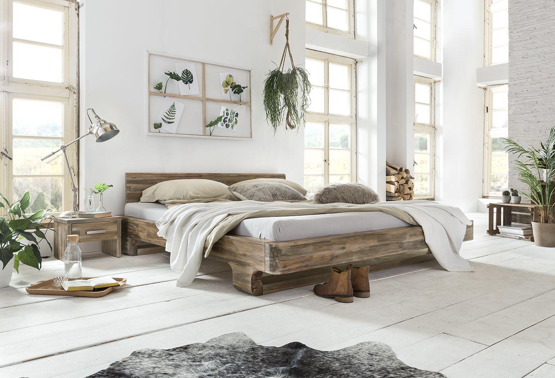 Holzbett Mayfield Akazie Schlafzimmer Massivholz Echtholz Mobel