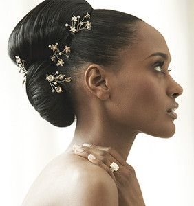 Swept and Sparkly black hairstyles weddings src