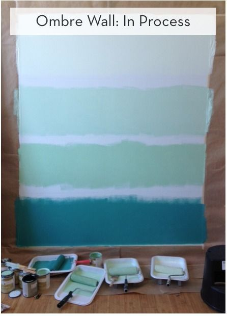 How To Paint An Ombre Wall Curbly Diy Design Community