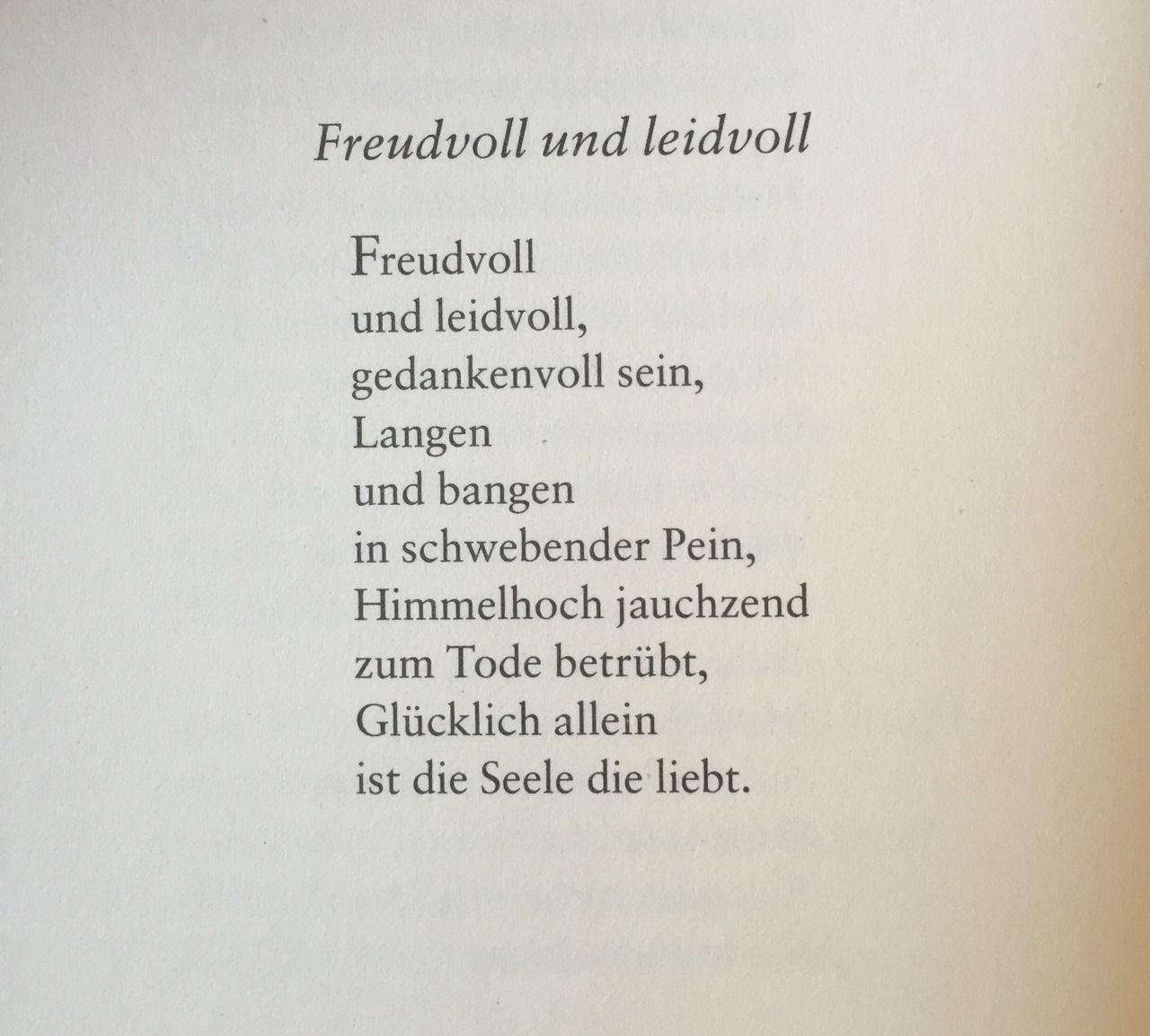 Gedichteausderwelt Freudvoll Und Leidvoll Von Johann
