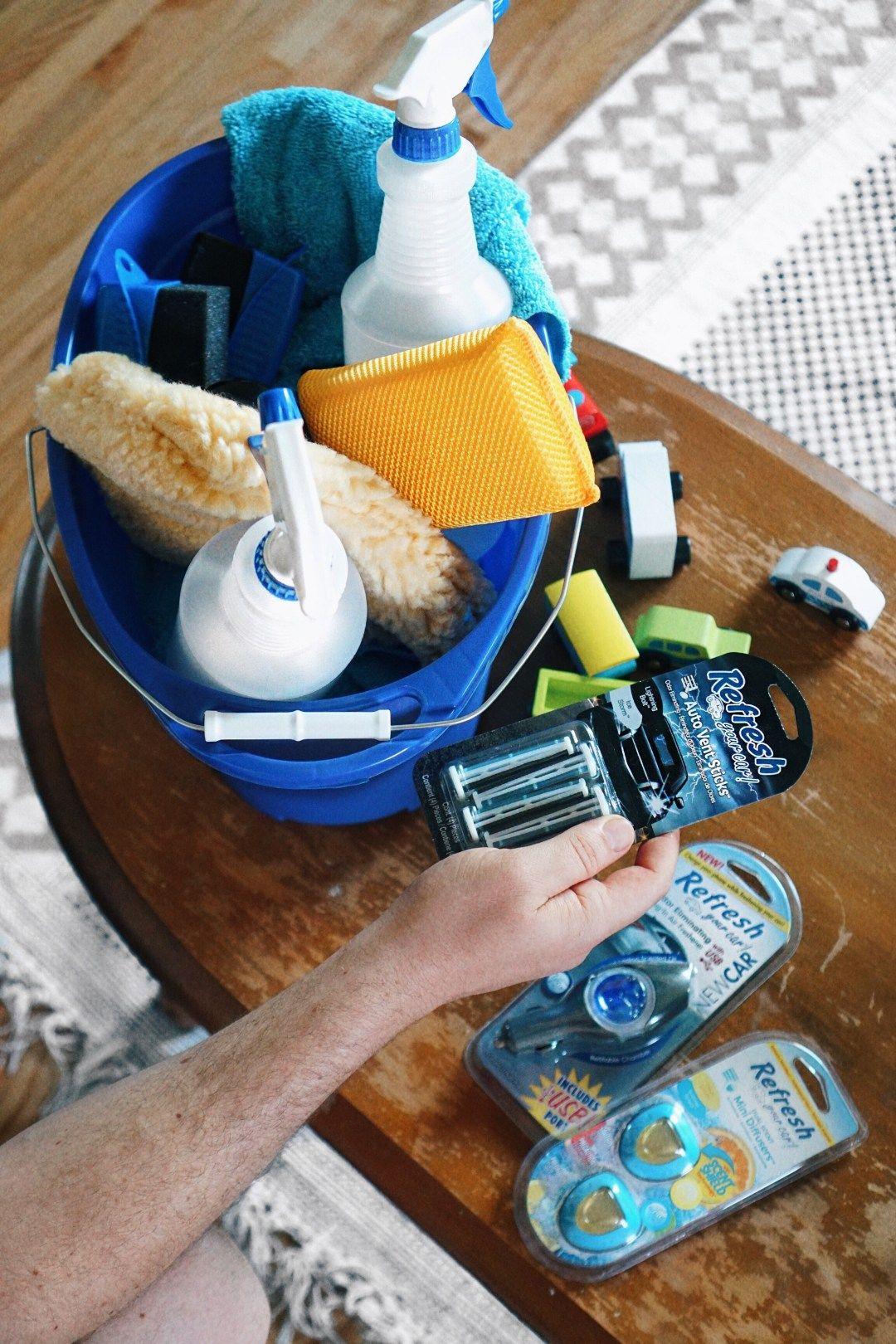 Cute practical fathers day gift idea diy car wash kit