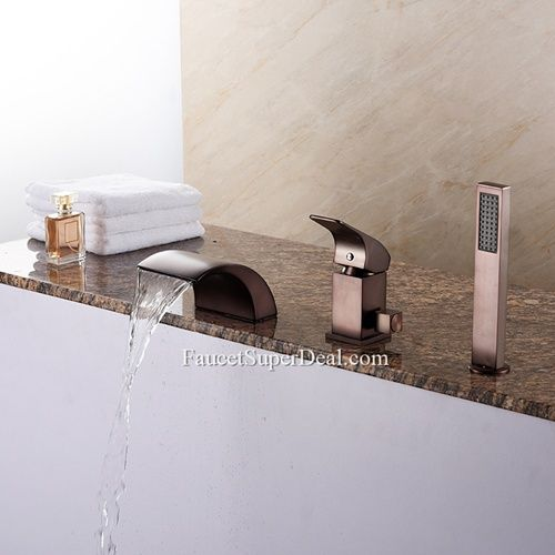 European Style Oil Rubbed Bronze Brass Led Waterfall Bathtub