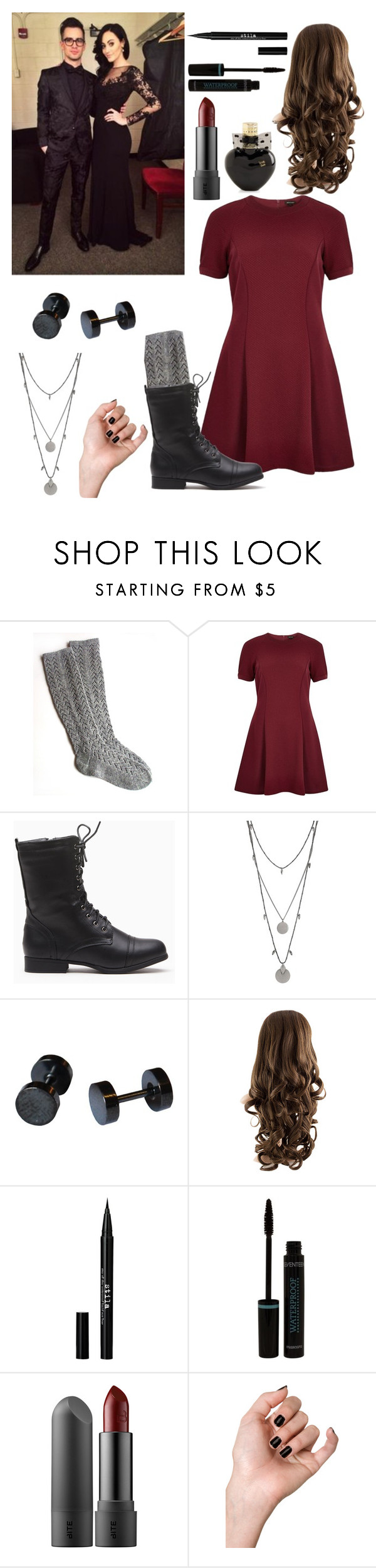 """•Award Show w/ Your Parents(Sarah & Brendon Urie)•"" by deminevaeh ❤ liked on Polyvore featuring River Island, Vince Camuto, Stila and Aéropostale"