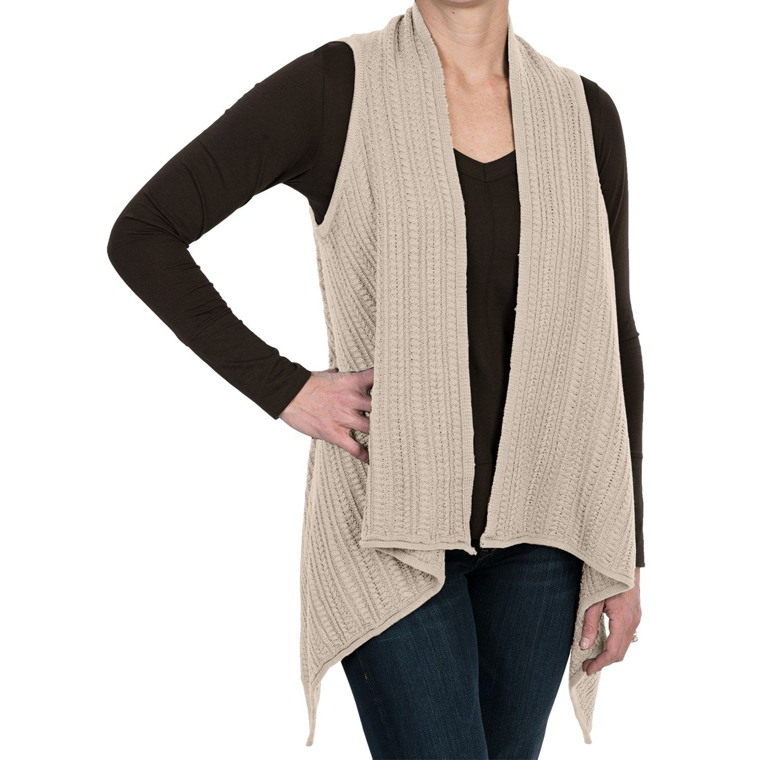 Sweater-Knit Vest - Open Front (For Women)