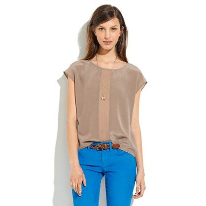 Silk Summersong Top, pictured color 'castle rock,' also comes in gorgeous 'portico green'; $92