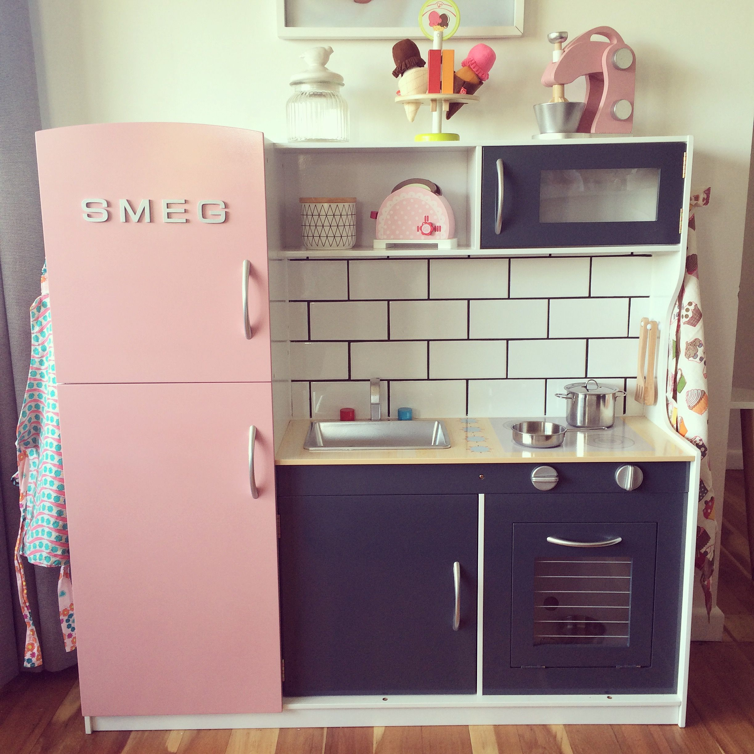 Our Kmart Kids Kitchen Hack Getting Our Pinterest On Pinterest Kitchens Cubby Houses And