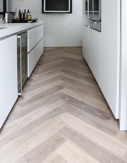 Wood Look Tile Set In A Herringbone Pattern Find More Great Ideas