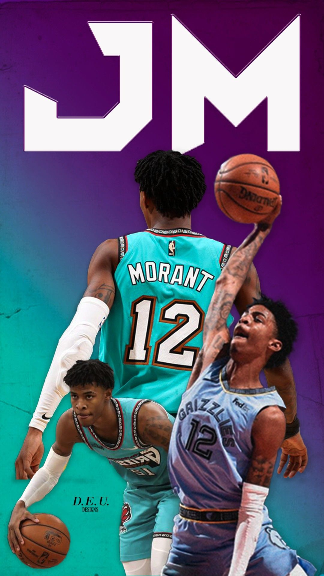 Ja Morant Wallpapers In 2020 Grizzlies Basketball Basketball Wallpaper Best Nba Players