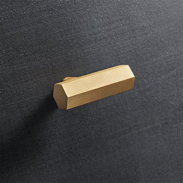 Shop Hex Brass Handles Popular In Bathrooms And Kitchens The Hexagon Adds A Sophisticated Graphic Element To Doors And D Brass Handles Copper Handles Brass