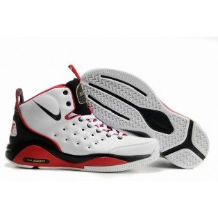 Nike Zoom Blur Mens Basketball Shoe White Black Red