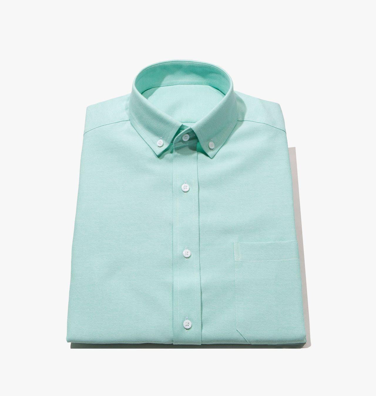 Men S Fitted Mint Green Oxford Dress Shirt 1450 Mens Shirts Online Shirts Tailored Shirts