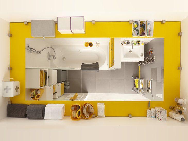 Rangements en hauteur | Remodeling the bathroom | Pinterest ...