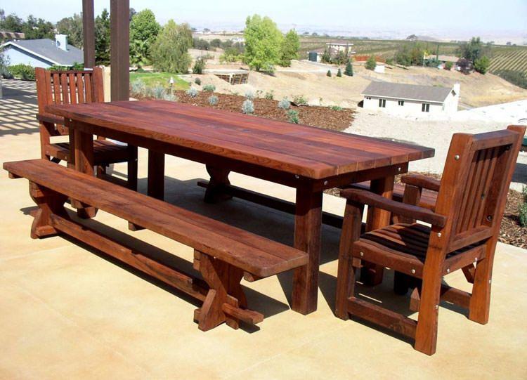Set Tavolo Giardino Legno.40 Foto Di Tavoli Da Giardino In Legno Per Arredamento Esterno