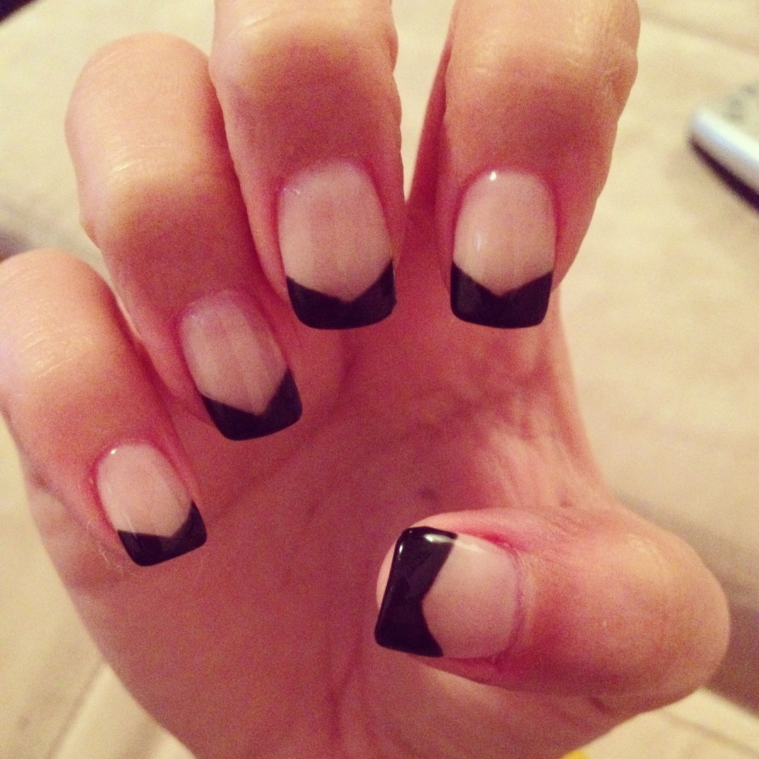 Edgy black French tip | Hair/makeup/nails | Pinterest | Nails games ...