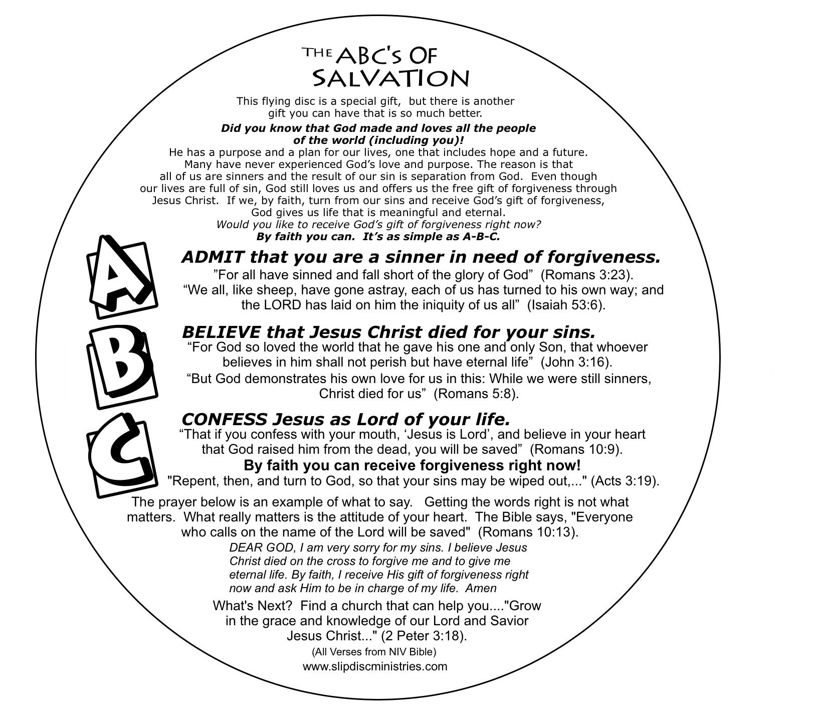 ABC Salvation Flying Disk | Children\'s Ministry | Pinterest | Flying ...