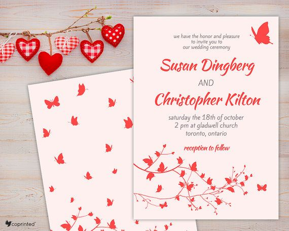 Free Wedding Invitation Card Templates Free Wedding Invitation Template Free Printables Butterflies .